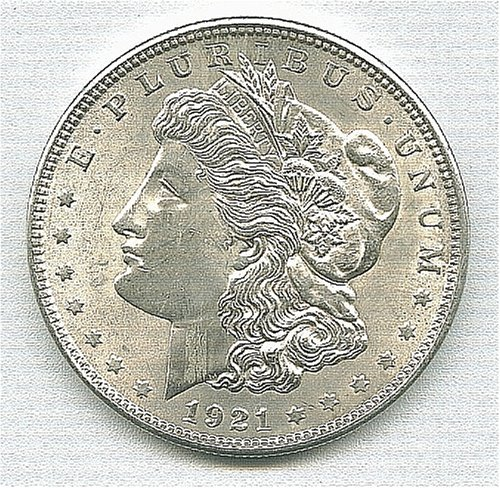 1921 Morgan Silver Dollar (1921 Dollar Morgan)