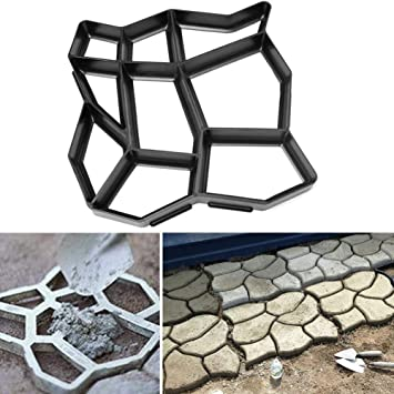 Global Brands Online 60x50 cm Jardãn DIY Plã¡Stico Path Maker Mold Piedra Camino Pavimentaciã³n Cemento Molde de Ladrillo: Amazon.es: Jardín