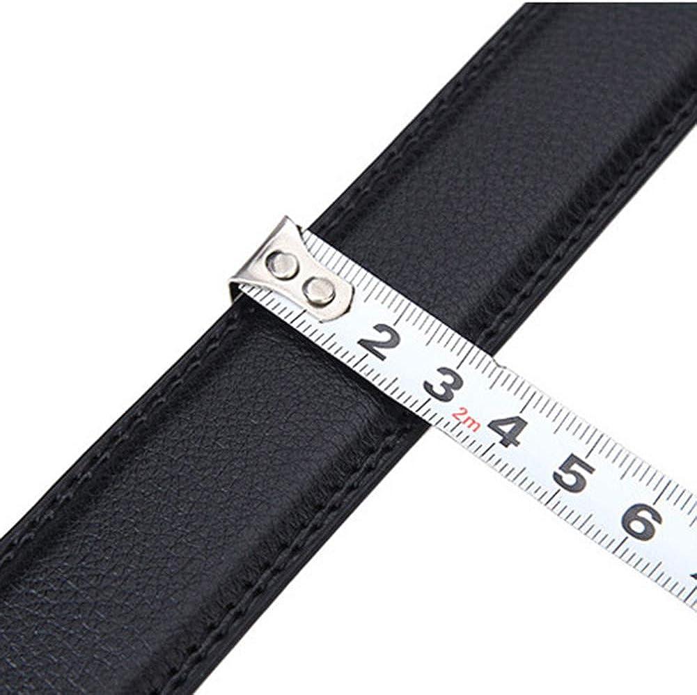 NOMSOCR Mens Premium Quality Genuine Leather Ratchet Dress Belt with Automatic Buckle