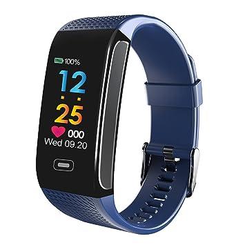 Lixada Smart Bracelet avec Écran Couleur Fitness Activité Tracker Montre Tensiomètre Moniteur de Fréquence Cardiaque Smart