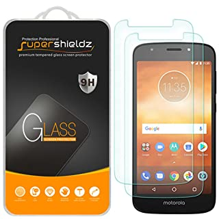(2 Pack) Supershieldz for Motorola (Moto E5 Play) and Moto E Play (5th Gen) Tempered Glass Screen Protector, (Not Fit for Moto E5), Anti Scratch, Bubble Free
