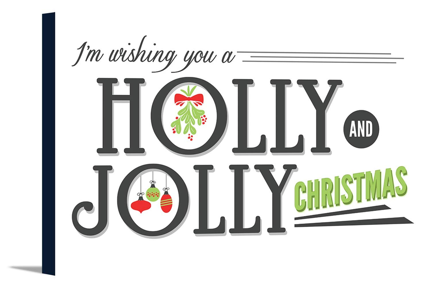 Have a Holly Jolly Christmas (白背景) 36 x 24 Gallery Canvas LANT-3P-SC-56576-24x36 36 x 24 Gallery Canvas  B0184B4RTG