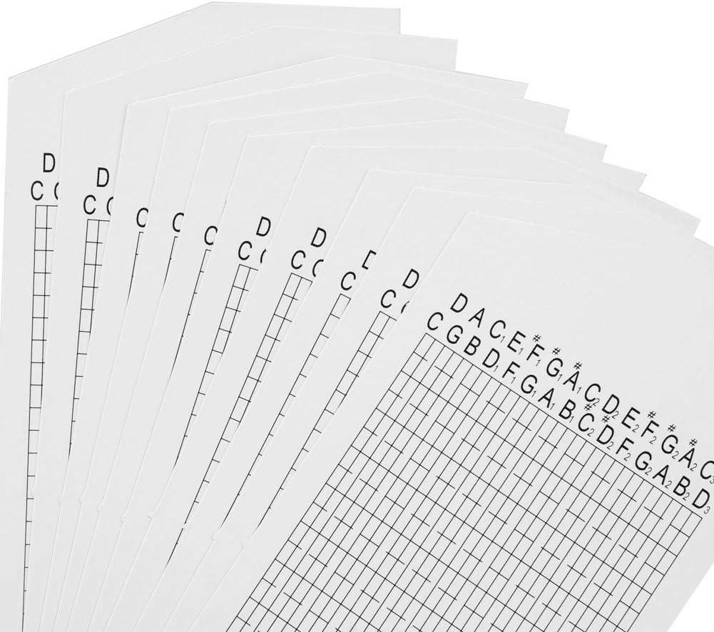 Desconocido HEEPDD 10pcs Set Tira de Cinta de Papel en Blanco Cinta de m/úsica en Blanco DIY para Caja de m/úsica de manivela de 30 Notas