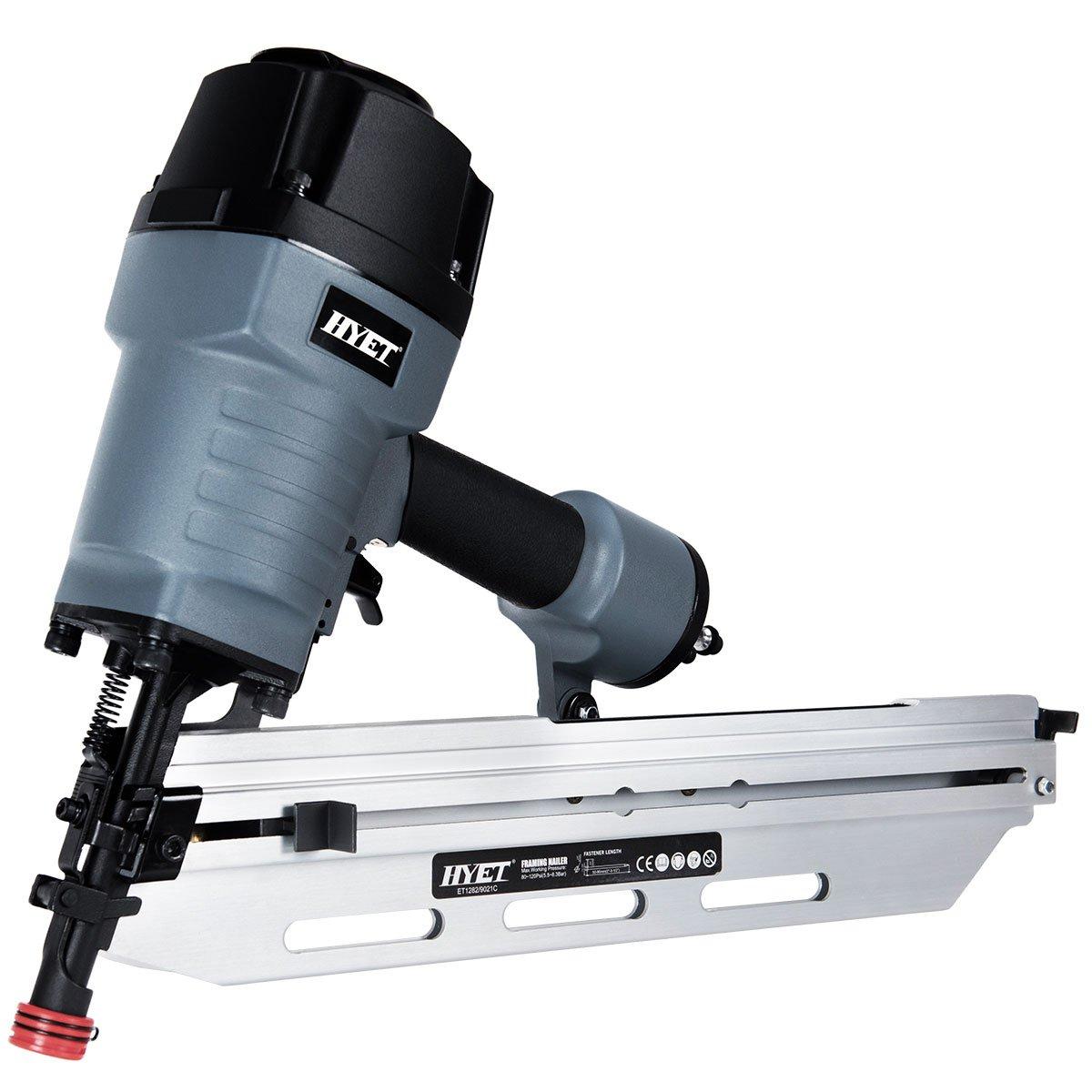 Goplus 21-Degree Air Brad Nailer Available for Nailing Planks & Ceilings Full-Head Framing Nailer