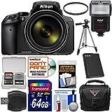 Nikon Coolpix P900 Wi-Fi 83x Zoom Digital Camera 64GB Card + Battery + Case + Tripod + Filter + Flash + Kit