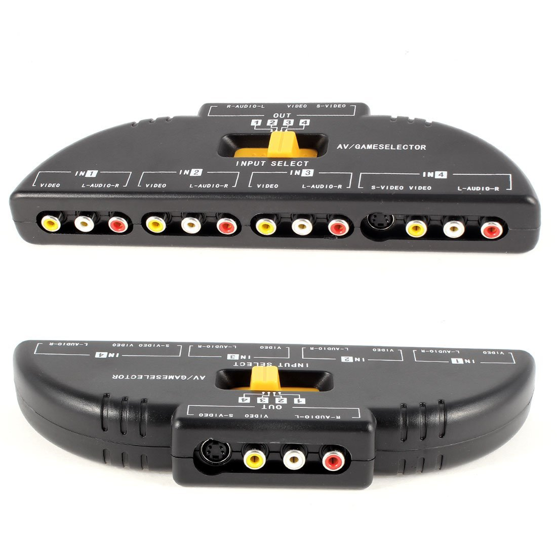 amazon com mosuch 4 way audio video av rca switch game selector box splitter black computers accessories