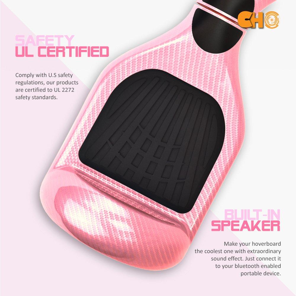 Amazon.com: Diseño de fibra de carbono Hoverboard eléctrico ...