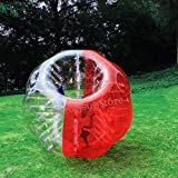 1.5M 5ft Human Knocker ball inflatable Bumper Bubble soccer Zorb Ball for Adult (Red, 1.5M)