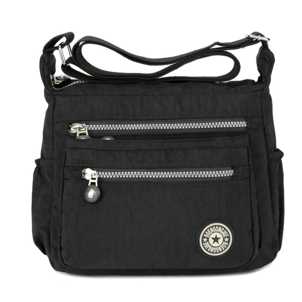 1005763bc581 Women s Casual Multi Pocket Nylon Messenger Bags Cross Body Shoulder Bag  Travel Purse product image