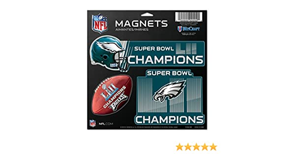 cf6763395 Amazon.com   Philadelphia Eagles WinCraft Super Bowl LII Champions 3-Pack  Car Magnet Set   Sports   Outdoors