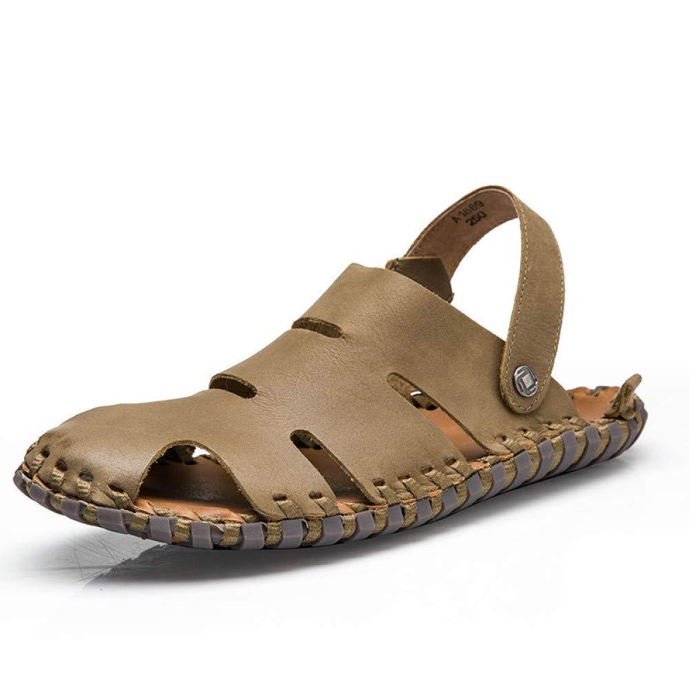 LYZGF Männer Jugend Atmungsaktive Sommer Casual Strand Sandalen Mode Atmungsaktive Jugend Hausschuhe Khaki 07aba2
