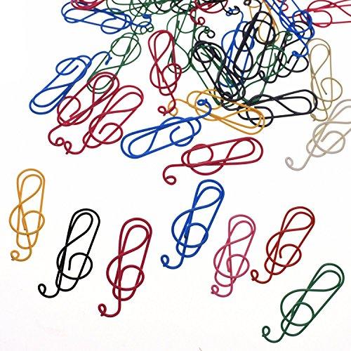 BCP 50PCS Random Color Musical Notes Style Metal Cute Paper Clips]()