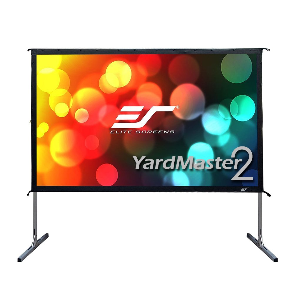 Elite Screens Yard Master 2, 120 inch Outdoor Projector Screen with Stand 16:9, 8K 4K Ultra HD 3D Fast Folding Portable Movie Theater Cinema 120'' Indoor Foldable Easy Snap Projection Screen, OMS120H2