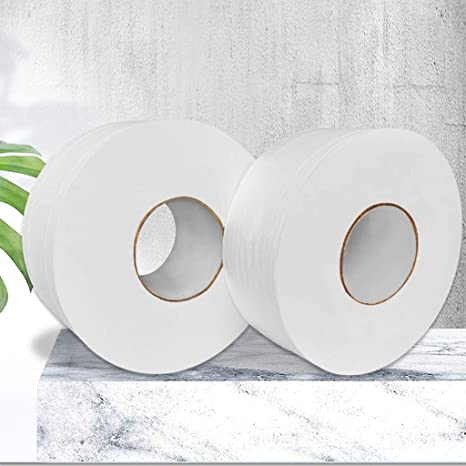 for Home Kitchen Dining Room Bathroom Restaurant Office School 3 Ply White Paper Towels Household Soft Skin-Friendly Napkins Bath Cleansing Tissues 10 Roll of Toilet Paper