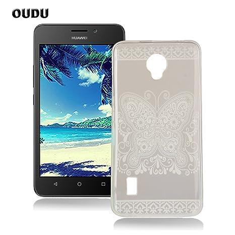 OuDu Funda para Huawei Y635 Carcasa Protectora Caso Silicona TPU Funda Suave Soft Silicone Case Cover Bumper Funda Ultra Delgado Carcasa Flexible ...