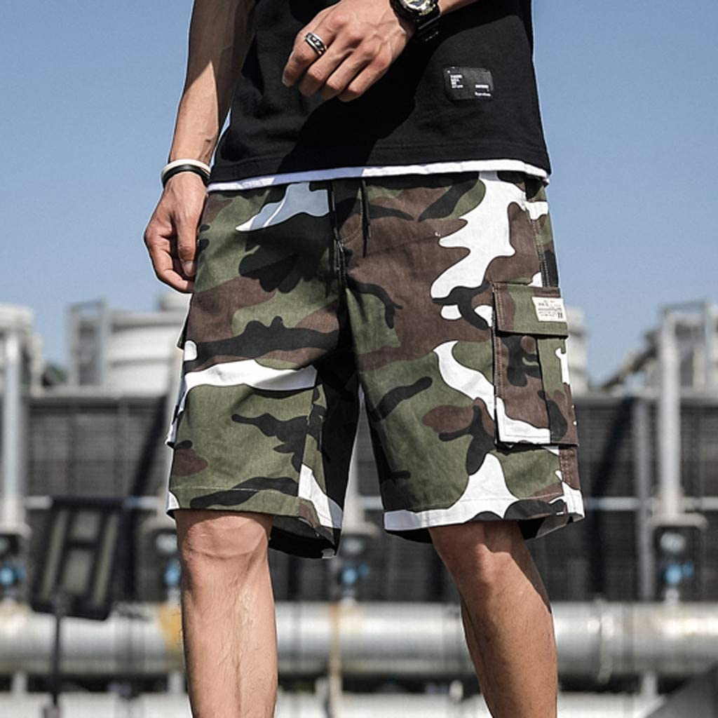 DIOMOR Big and Tall Casual Floral Drawstring 9 Inch Inseam Shorts for Men Fashion Stretch Baggy Beach Trunks Pants