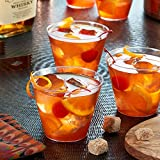 Toasted Drinkware Premium Hard Plastic Clear 9 oz Party Cups/ Old Fashioned Tumblers, 100 Count