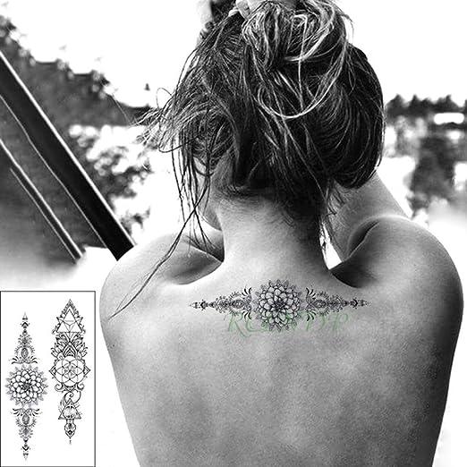 adgkitb 4 Piezas Impermeable Tatuaje Temporal Pegatina Cabeza de ...