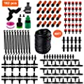 "PiscatorZone Drip Irrigation Kits,49ft Garden Irrigation System with 1/4"" Blank Distribution Tubing Watering Drip Kit,DIY Saving Water Automatic Irrigation Equipment Set for Garden"