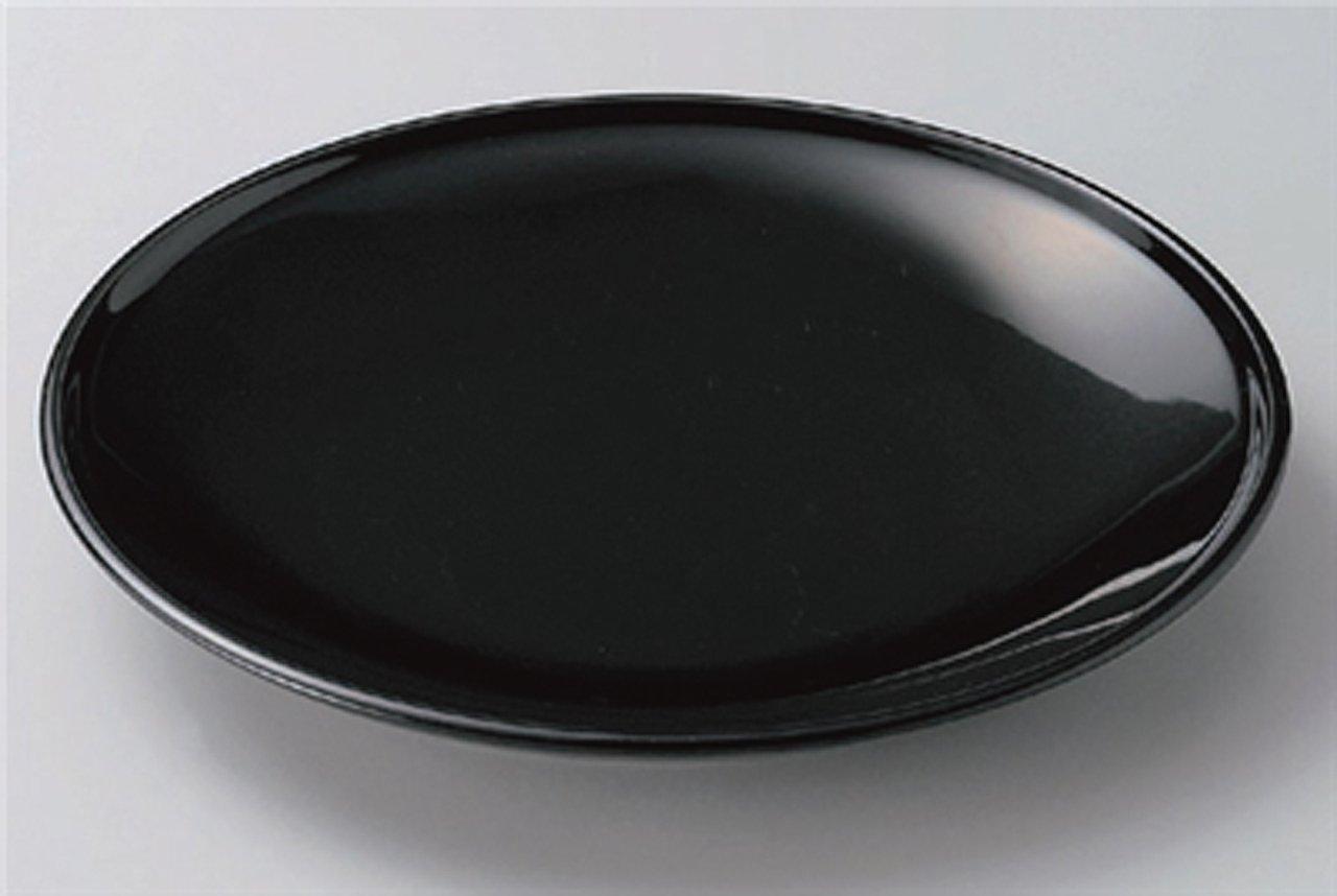 URUSHI-BLACK Jiki Japanese traditional Porcelain Set of 10 Medium Platese made in JAPAN