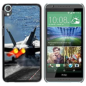 LECELL -- Funda protectora / Cubierta / Piel For HTC Desire 820 -- Fighter aircraft --