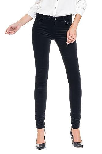 SALSA Pantalón Colette en terciopelo y pierna super pitillo