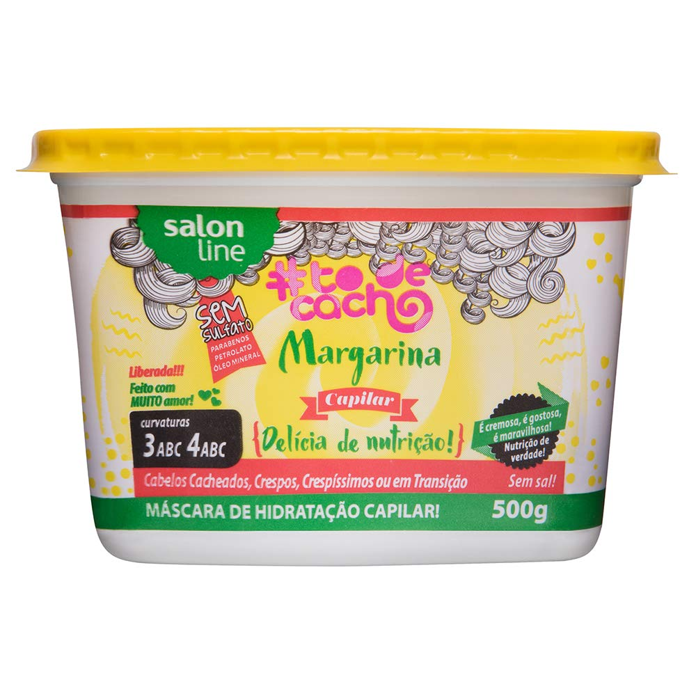 Amazon.com: Linha Tratamento (#ToDeCacho) Salon Line - Margarina Capilar {Delícia de Nutricao!} 500 Gr - (Salon Line Collection): Beauty