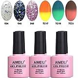 AIMEILI Soak Off UV LED Gel Nail Polish Multicolour/Mix Colour/Combo Colour Set Of 6pcs X 10ml - Kit Set 20