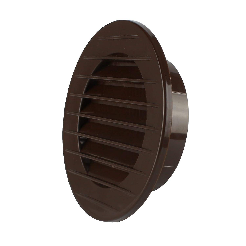 MKK/-/17969/-/abluft Grille de ventilation Grille ext/érieure Grille anti-insectes Blanc Gris Marron 60/70/80/90/100/mm marron
