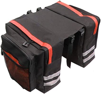 Outdoor Bike Bicycle Cycling Rear Seat Double Panniers Bag Trunk Rack Pack Bag