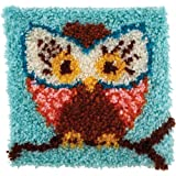 "Wonderart Hoot Latch Hook Kit, 12"" X 12"""