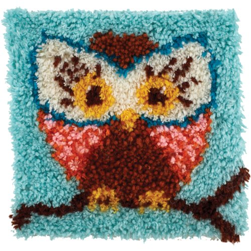 Caron Rug Kits - Wonderart Hoot Latch Hook Kit, 12
