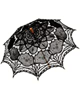 Remedios(16 colors) Lace Parasol Umbrella for Wedding Bridal Decoration Black