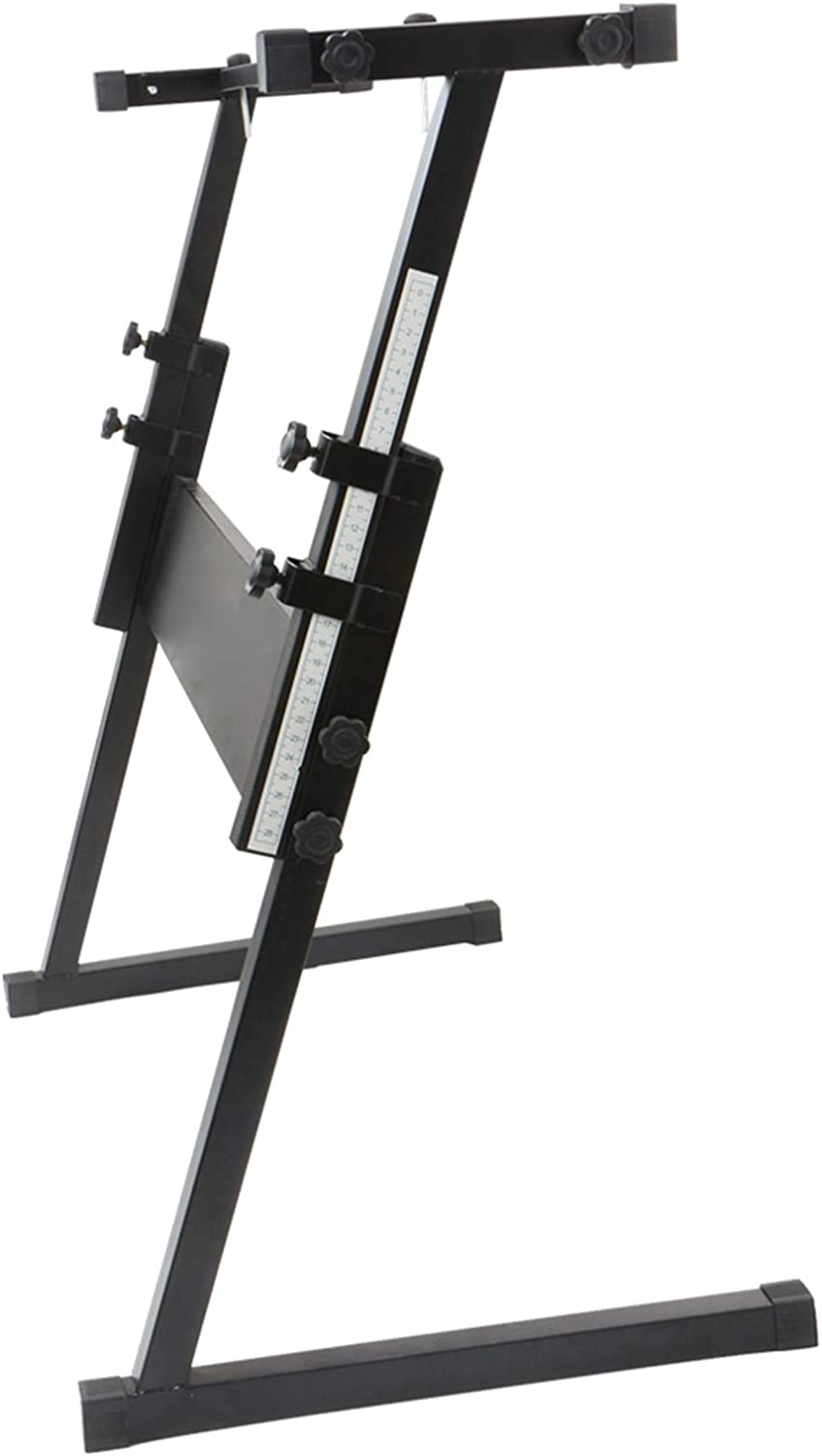 Glarry Piano Stand; Folding Retractable Heavy Duty Musical Instrument Accessory Electric Keyboard Holder Stand; Birthday Christmas Gift For Music Amateurs/&Professionals; Black