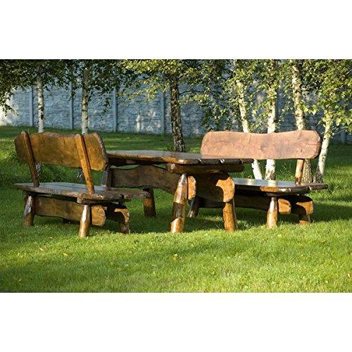 Sitzgruppe Rustikal 150 cm Massivholzmöbel Gartenmöbel Sitzgarnitur 5cm Holzstärke