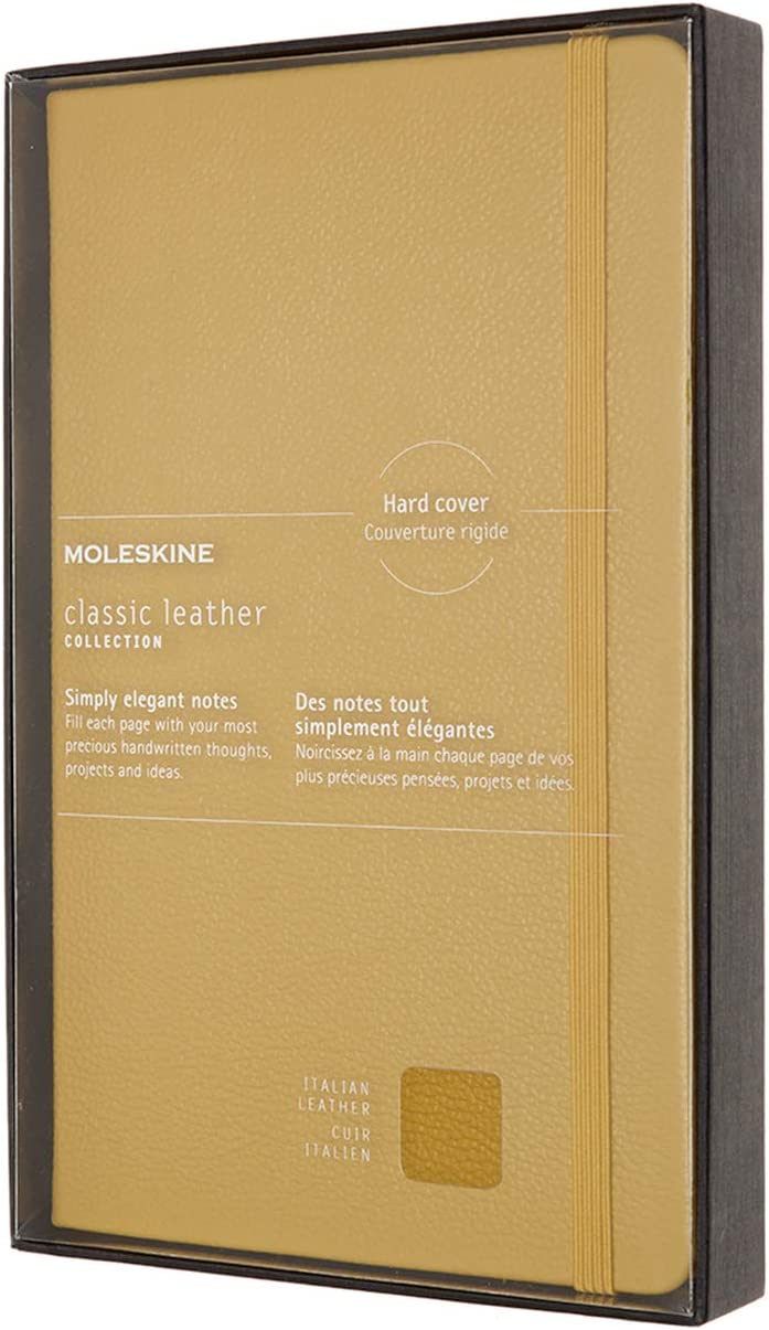 Hard Cover 5 x 8.25 Amber Yellow Ruled//Lined Large 176 Pages Moleskine Classic Leather Notebook