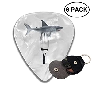 Colby Keats Guitar Picks Plectrums Forbid to Prey On Sharks Classic Electric Celluloid Acoustic for Bass Mandolin Ukulele 6 Pack 3 Sizes .96mm