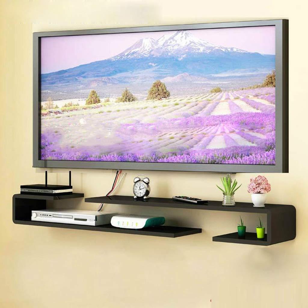 テレビキャビネットフローティング棚本棚セットトップボックスルーター収納ラックマルチメディアコンソール B07RTZV95C