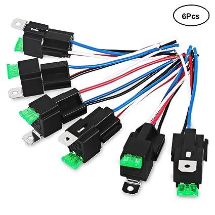 61VuPHbNp L._SX425_PIbundle 6TopRight00_AA425SH20_ amazon com vaning 6 pack 30a fuse relay switch harness set 14 awg