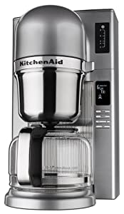 KitchenAid KCM0802CU Pour Over Coffee Brewer, Contour Silver