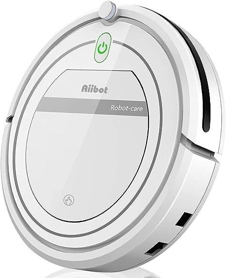 Aiibot Robot Aspirador,Succión Fuerte Aspirador Robot,Diseño Ultrafino,Anti-caída,HEPA,Pelos Animales, Adecuado para Suelos Duros y Alfombras de Pelo Corto (T288 Blanco): Amazon.es: Hogar