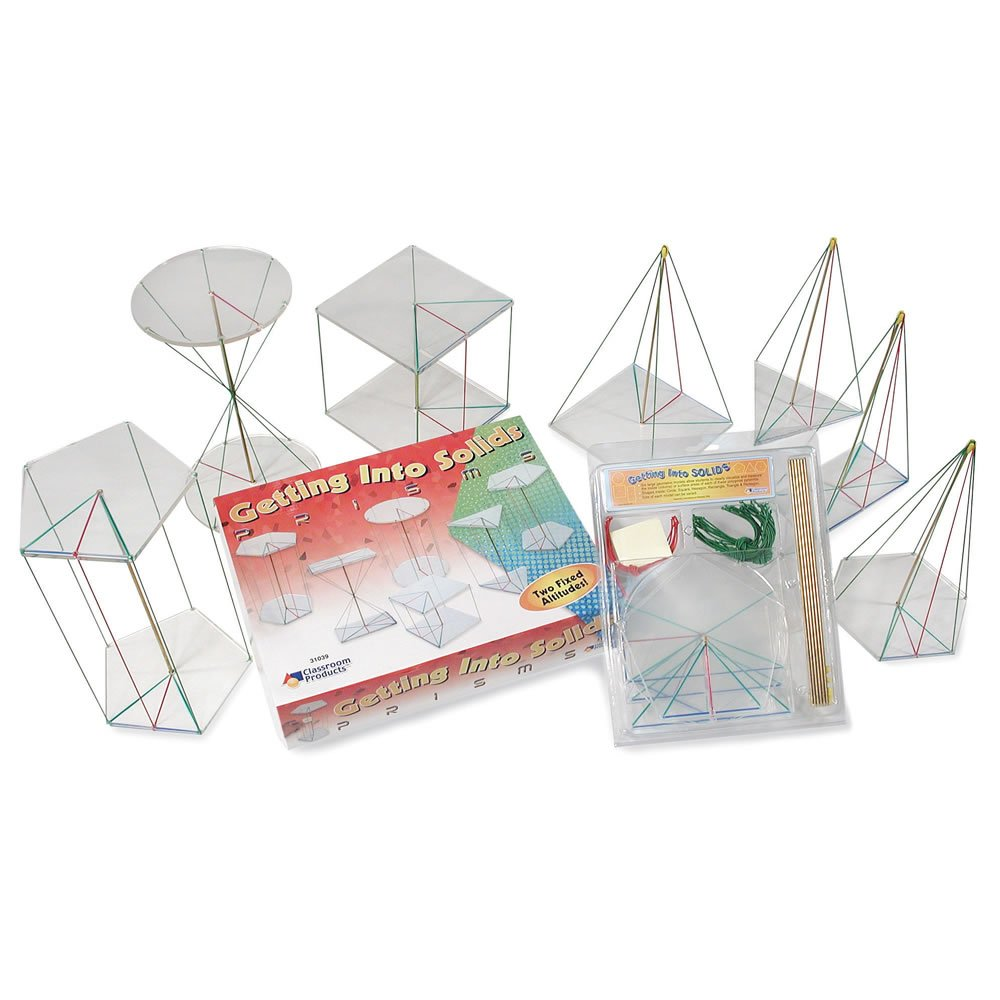 hand2mind Getting Into Solids: Prisms & Pyramids Kit