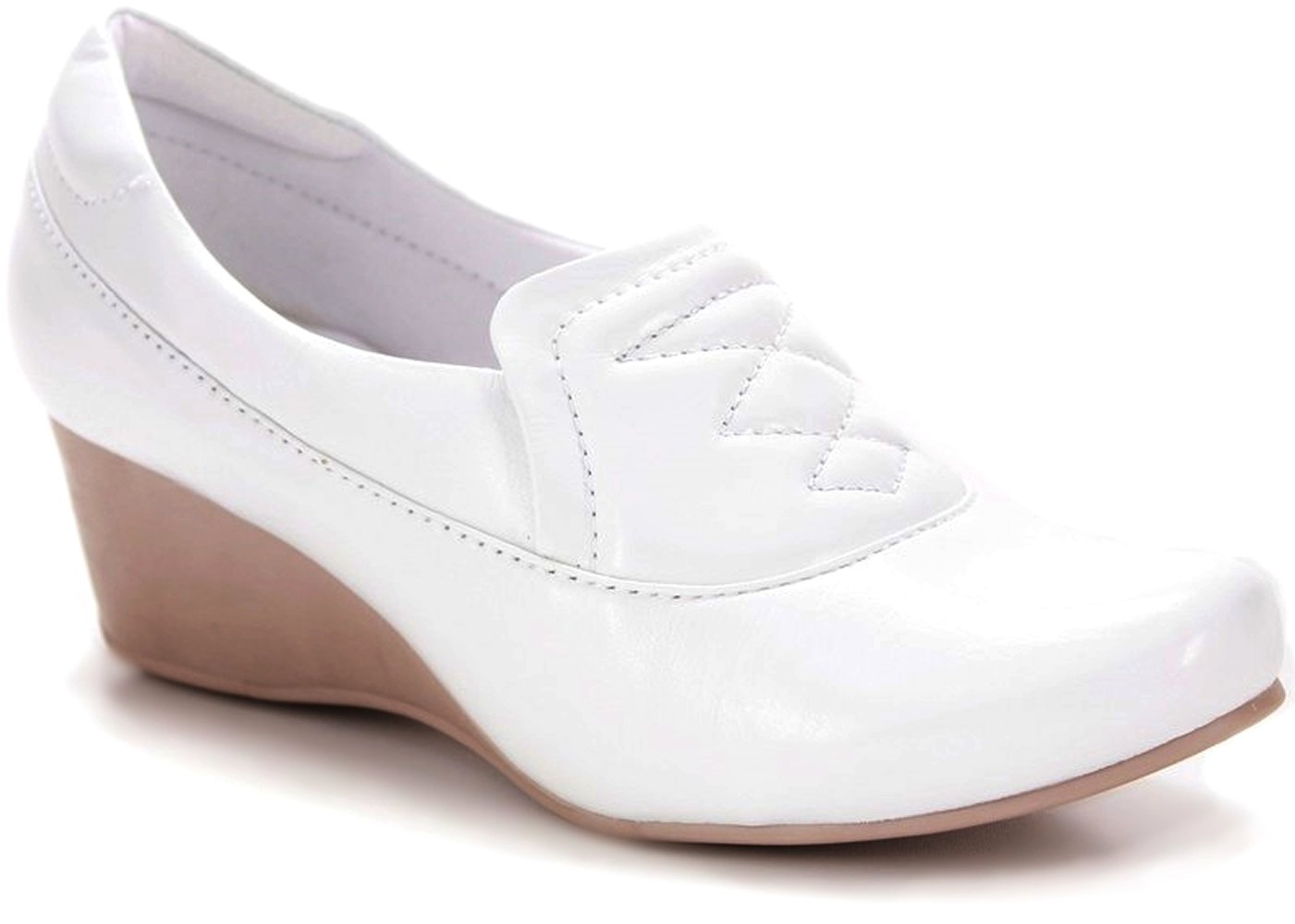 Neftali Wedge Leather Shoes 4156 - White (8, White)