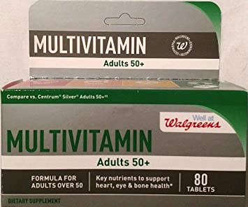 Walgreens Multivitamin Adults 50+ 80 tablets