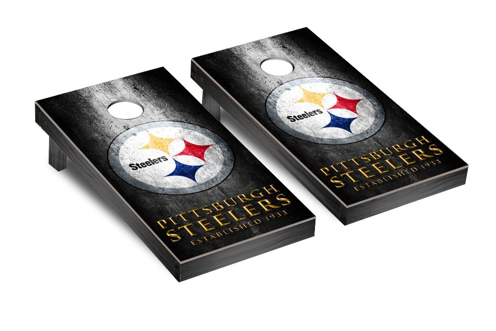 NFL Pittsburgh Steelers Cornhole Game Set (museum Version), Multicolor, One Size by Victory Tailgate (Image #1)