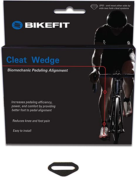 8 Wedges and longer Screws Bikefit Cleat Wedges for SPD MTB Cleats