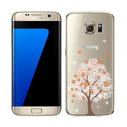 YSIMEE para Carcasa Samsung Galaxy S6 Edge,Xmas Decoración ...