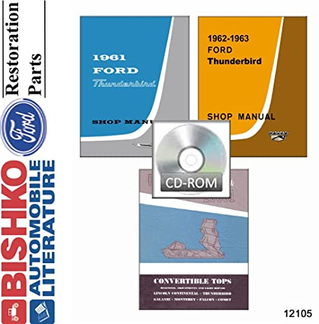 amazon com 1961 1962 1963 ford thunderbird w convertible tops rh amazon com