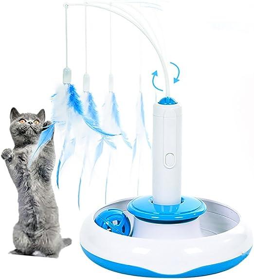 Juguete de Gato, moonlux Juguete Interactivo Eléctrico para Gato ...