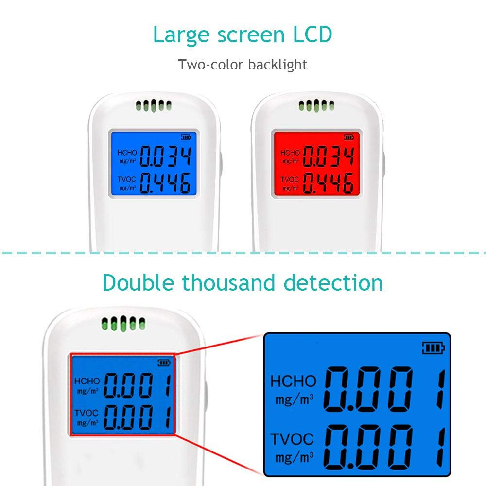 Womdee Air Quality Monitor Formaldehyde Detector Pollution Meter Sensor Tester Detect /& Test Indoor Pollution PM2.5//PM10//Particles Meter HCHO//AQI Tester